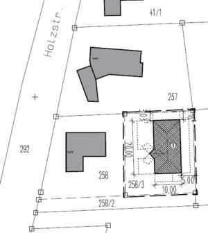 Lageplan Villa bei Augsburg